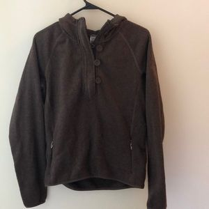 North face brown fleece sweater - size M